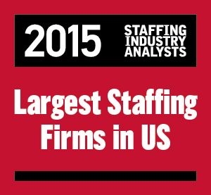 2015 US Largest Staffing Logo